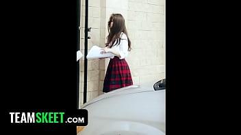 InnocentHigh - Horny Schoolgirl (Elektra Rose) Learns a Lesson!