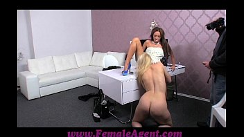 FemaleAgent Stunning blonde is passed around on casting صورة