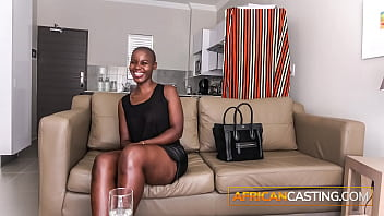 Bald African Babe Fucked In Ass On Casting Couch
