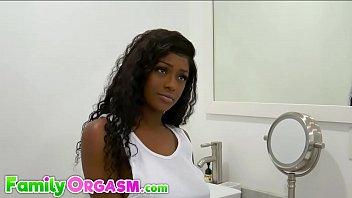 Ebony Daughter in Bathroom Fuck Black Dad