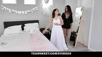 TeamSkeet - Teen Bride Seduced By Big Tits Lesbian