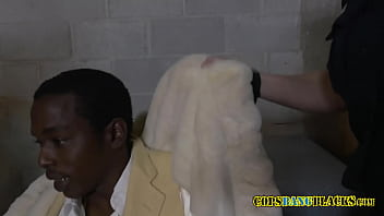 Dirty mouthed milf cops take suspect into random room to subdue him