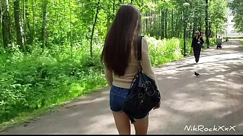 Blowjob in the Park with a beautiful baby Evelina Darling