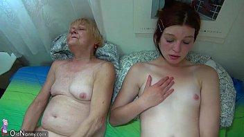 Pretty granny and nice girl masturbating together