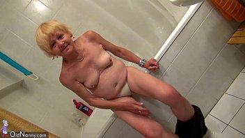 Pretty granny and nice girl masturbating together 8 min