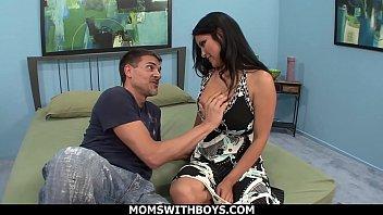 MomsWithBoys - Busty Latina MILF Sophia Lomeli Big Boobs Cum Covered