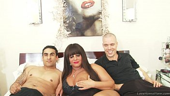 Slut with big tits fucked in a threesome 14 min