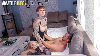 AMATEUR EURO – Tattooed German Lady Kinky Cat Gets Rough Sex From Lover