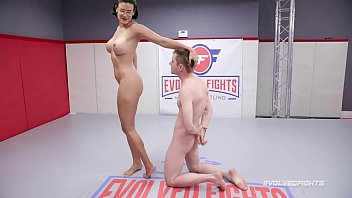 Penny Barber nude wrestling face sitting loser after dominating