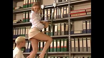Blonde gets fucked hard in the library 14 min