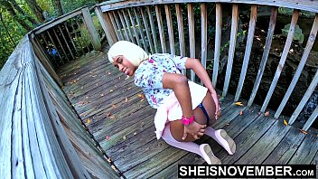 Big Butt Flashing Petite Black Babe Lift Skirt For Horny Boyfriend Spreading Thick Ass Cheek With Thong Wedgie In Public , Hot Girlfriend Msnovember In Doggy Position 4k Sheisnovember