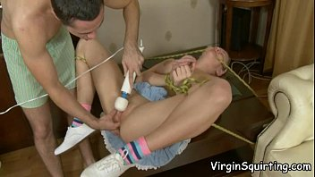 VirginSquirting - Cute Legal Age Babe Squirting While He Pounds Her Snatch
