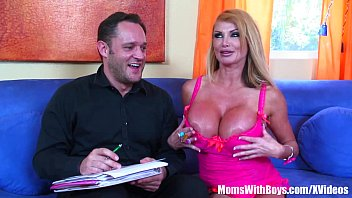 Image: Busty Blonde MILF Mandy Bright Double Penetration