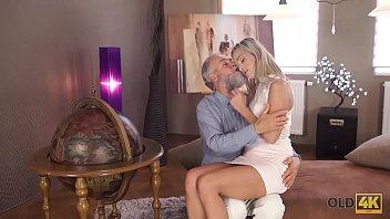OLD4K. Kind grey-haired teacher makes sweet love to tender creature Shanie Ryan 9 min