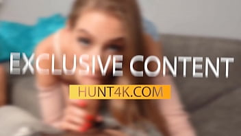 HUNT4K. For easy money red-haired gal cheats on her grumpy boyfriend