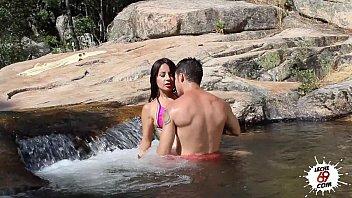 susana alcala in the river - outdoor sex - latina