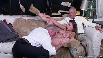 Old Guys Perving on Young Girl Image