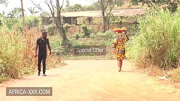 Black banana seller girl seduced for a hot sex 10 min