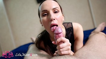 Lilu Moon Slow Sensual Blowjob and Cum In Mouth! POV 10 min