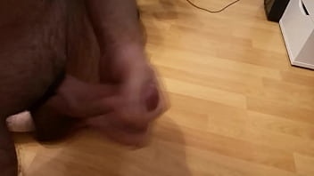 Wanking my hot cock while using a cockring