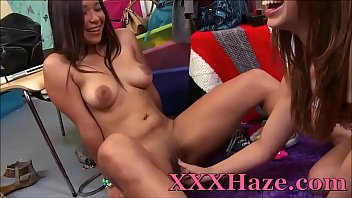 College Teens Made To Lick Pussy & Ride Sybian For Initiation
