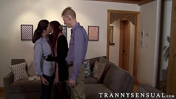 Married couple Linda and Peter enjoy a threesome with tranny
