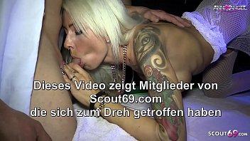 Echter Gangbang mit Deutschen Teen Anni Angel und Sperma auf