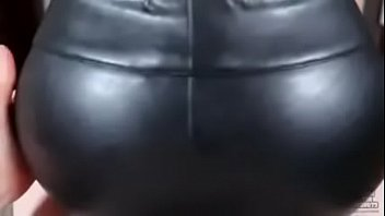 Mens leather clothing fetish - Cum in my leather leggins, dude