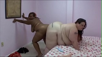 Huge white woman Sexy Mae has hard fuck in bed with a black BBW slut Mz Thick