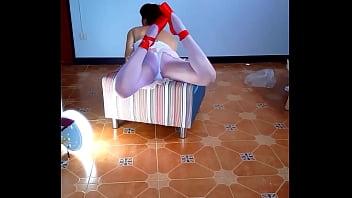 Depraved Ballerina striptease. Naked ballerina. Ballerina without panties.