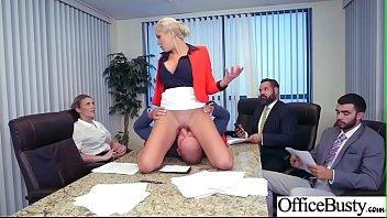 (Nina Elle) Hot Office Girl With Big Boobs Love Hard Sex Movie-23