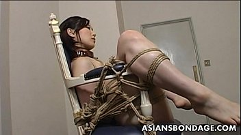 Niya yu femdom - Extreme bondage and dildo fuck for an asian babe