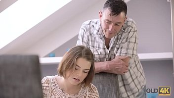 OLD4K. Old male and young colleen have dirty fun in expensive house 9 min