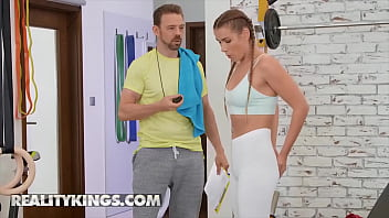 Horny (Alexis Crystal) Replaces Her Butt Plug With Her Coachs (Erik Everhard) Big Cock - Reality Kings