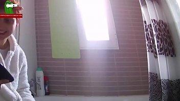 Hot & fucked shower. MILF caught with a hidden spycam by a voyeur RAF091
