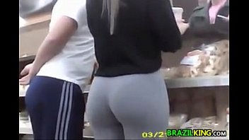 Looking at ass Brazilian with a great ass at the store