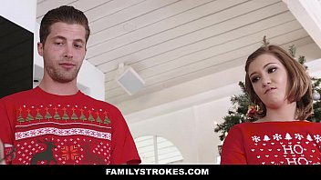 Familystrokes - Step-Sis Fucked During Christmas Pic - 69VClub.Com
