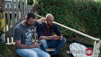 HITZEFREI Tattooed short haired MILF takes a big dick 12 min
