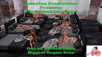 The Second Life Orgy 12 min