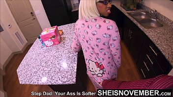 4k Msnovember Big Ebony Booty Crawling For StepDad Then RoughFucked Doggysytle On The Kitchen Floor And Assworshipped on Sheisnovember