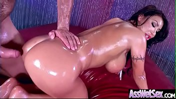 (August Taylor) Wet Big Ass Oiled Girl Love Anal Hardcore Sex clip-10