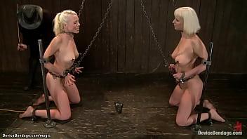 Lesbians bound on device bondage 5 min