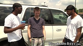 Black interraical gay Aiden mcallister handles two black cocks