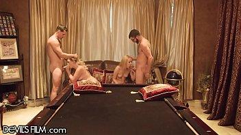 DevilsFilm Pool Bet Leads to Wife Swap Orgy