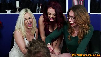 Streaming Video British CFNM babes give lucky dude wankjob - XLXX.video
