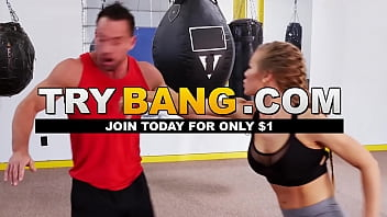 PAWG Nicole Aniston Takes Cock From Johnny Castle In Boxing Ring