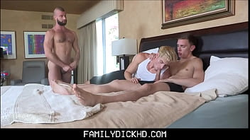 Two Young Step Brothers Family Threesome With Step Dad Donnie Argento For More Allowance