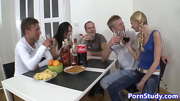 Czech babes facialized after orgy