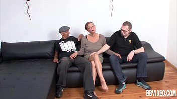 Chesty german milf fuck two guys