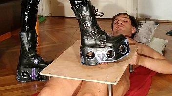 Femdom platforms Domina cock stomping torture slave in brutal platform pt2 hd